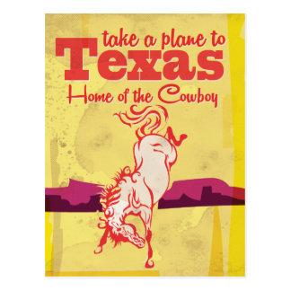 Impressão do poster de viagens de Texas do vintage Cartão Postal