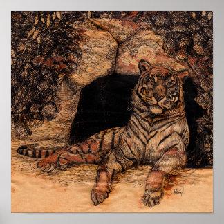 Impressão do poster do antro do tigre