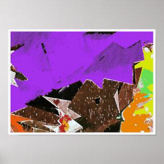 Impressão do poster do Expressionism abstrato das
