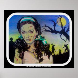 """""""Impressão do poster do orgulho celta do zombi"""" Pôster"""
