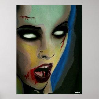 Impressão do poster do zombi