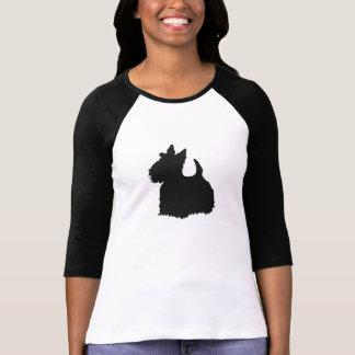 Impressão do preto do cão de Scotty Camisetas