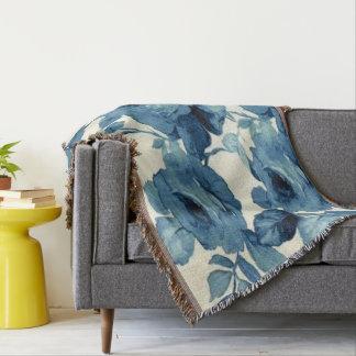 Impressão do rosa do azul dos anos 50 do vintage throw blanket