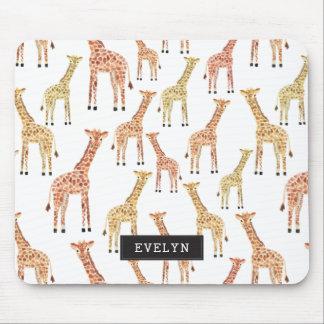 Impressão do safari do girafa mouse pad