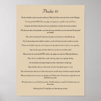 Impressão do verso da bíblia, salmo 91