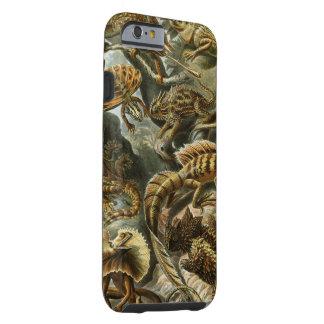 Impressão do vintage dos lagartos de Haeckel Capa Tough Para iPhone 6