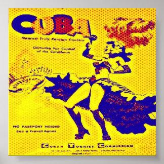 Impressão dos anos 50 de Cuba