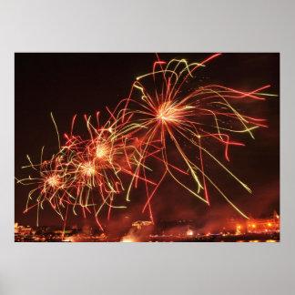 Impressão dos fogos-de-artifício do festival de