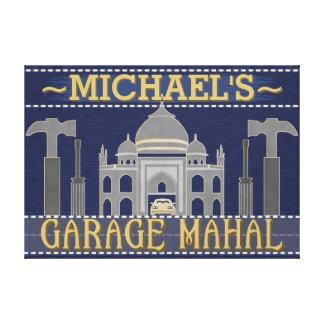 Impressão Em Canvas A garagem engraçada Mahal da caverna do homem