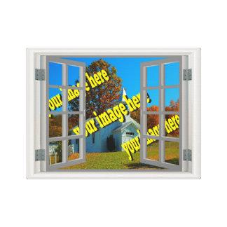 Impressão Em Canvas A janela falsificada cria suas próprias cinzas