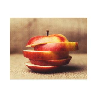 Impressão Em Canvas Apple cortado