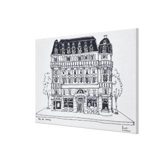 Impressão Em Canvas Arquitetura | Rua du Louvre de Haussmann, Paris