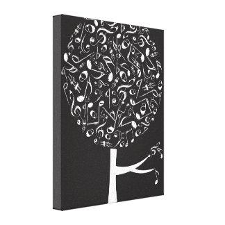 Impressão Em Canvas Arte branca da parede do berçário de árvore do pop