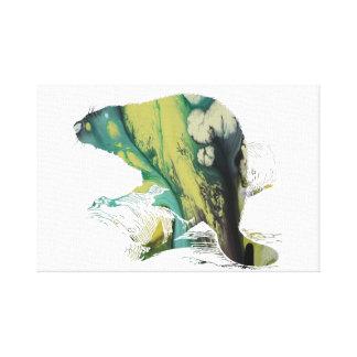 Impressão Em Canvas Arte do castor