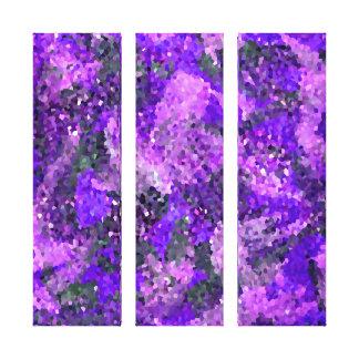 Impressão Em Canvas Arte geométrica floral abstrata dos azulejos de