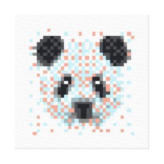 Impressão Em Canvas Arte legal do pixel da panda