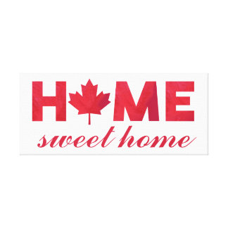 Impressão Em Canvas Bandeira canadense Home doce Home