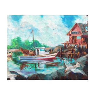 Impressão Em Canvas Barco do camarão