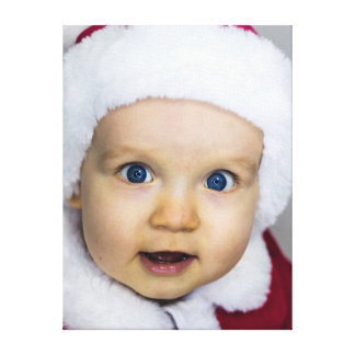 Impressão Em Canvas Bebê bonito do Natal
