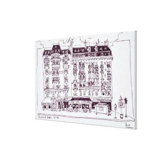 Impressão Em Canvas Bulevar Raspail, Paris, France