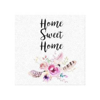 Impressão Em Canvas Buquê Home doce Home