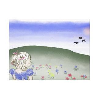 Impressão Em Canvas Canvas, crianças, menina