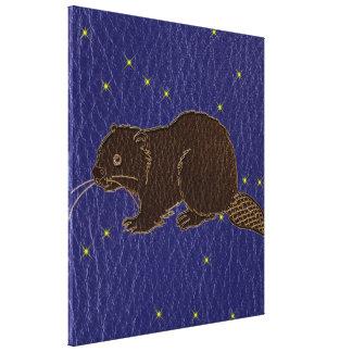 Impressão Em Canvas Castor do zodíaco do nativo americano do