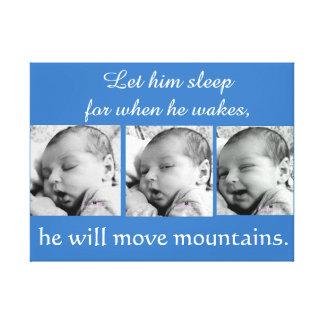 Impressão Em Canvas Colagem do bebé, 3 fotos