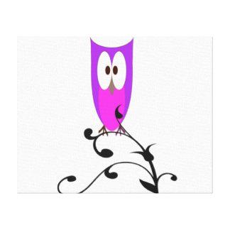 Impressão Em Canvas Coruja roxa