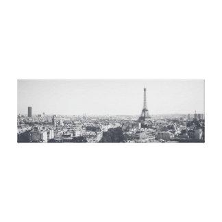 Impressão Em Canvas Dar uma olhada Paris branco-negro em linho