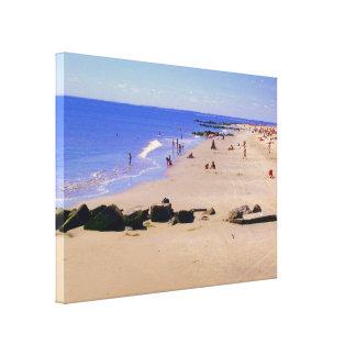 """Impressão Em Canvas De """"dia verão na praia (ouro)"""" envolvida"""