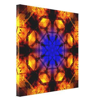 Impressão Em Canvas DeepBlue à mandala de VibrantOrange