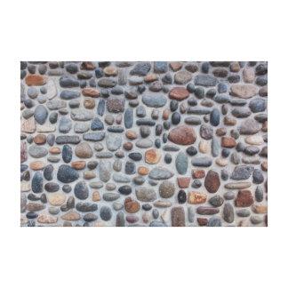 Impressão Em Canvas Design da parede de pedra do seixo do mosaico