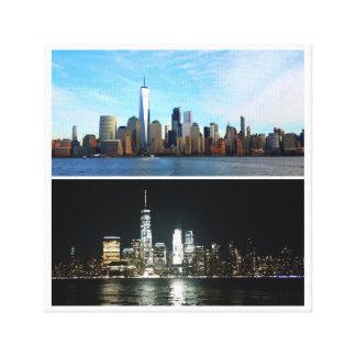 Impressão Em Canvas Dia e noite de New York