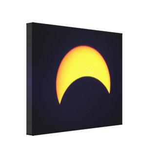 Impressão Em Canvas Eclipse solar parcial escuro