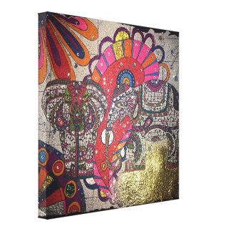 Impressão Em Canvas Elefantes