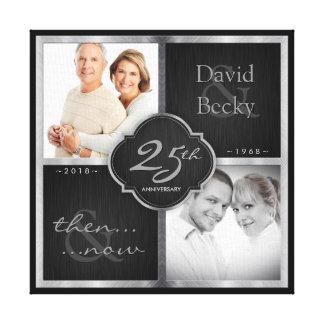Impressão Em Canvas Então e agora 25o aniversário de casamento 2018