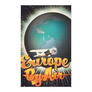 Impressão Em Canvas Europa pelo poster do vôo do vintage do ar