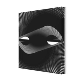 Impressão Em Canvas fio preto
