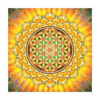 Impressão Em Canvas Flor da vida - loto Amarela