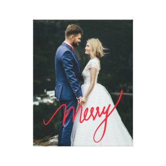 Impressão Em Canvas Foto do casamento do Natal do Newlywed da feliz |