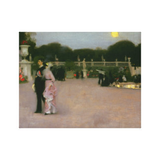 Impressão Em Canvas John Singer Sargent - nos jardins de Luxembourg