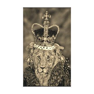 Impressão Em Canvas leoa da rainha