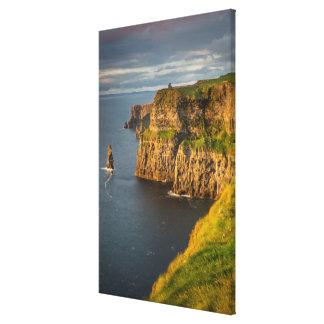 Impressão Em Canvas Litoral de Ireland no por do sol