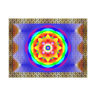 Impressão Em Canvas Mandala Chakras