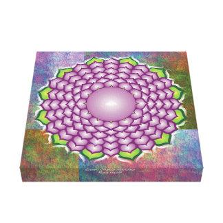 Impressão Em Canvas Mandala de Chakra da coroa
