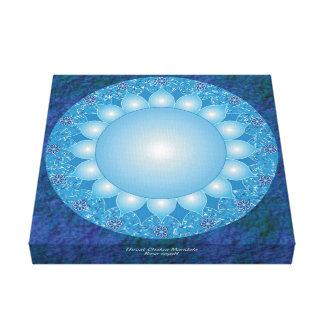 Impressão Em Canvas Mandala de Chakra da garganta