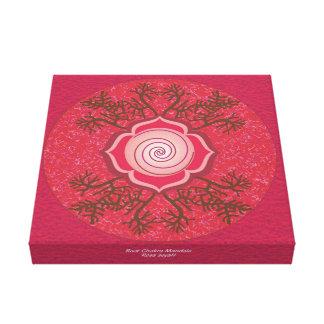 Impressão Em Canvas Mandala de Chakra da raiz