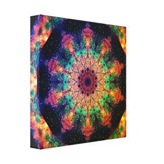 Impressão Em Canvas Mandala psicadélico do viagem