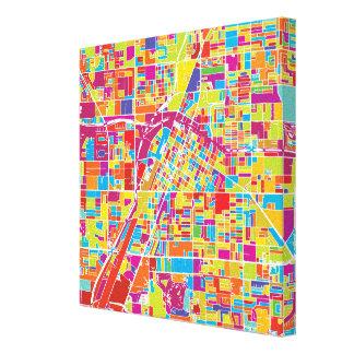 Impressão Em Canvas Mapa de Las Vegas colorido, Nevada